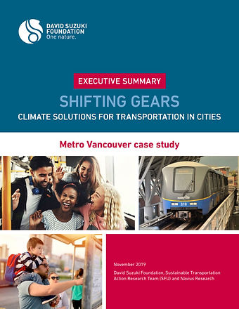 Executive Summary - Shifting Gears: Climate Solutions for Transportation in Cities