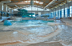 The fun pool with waves