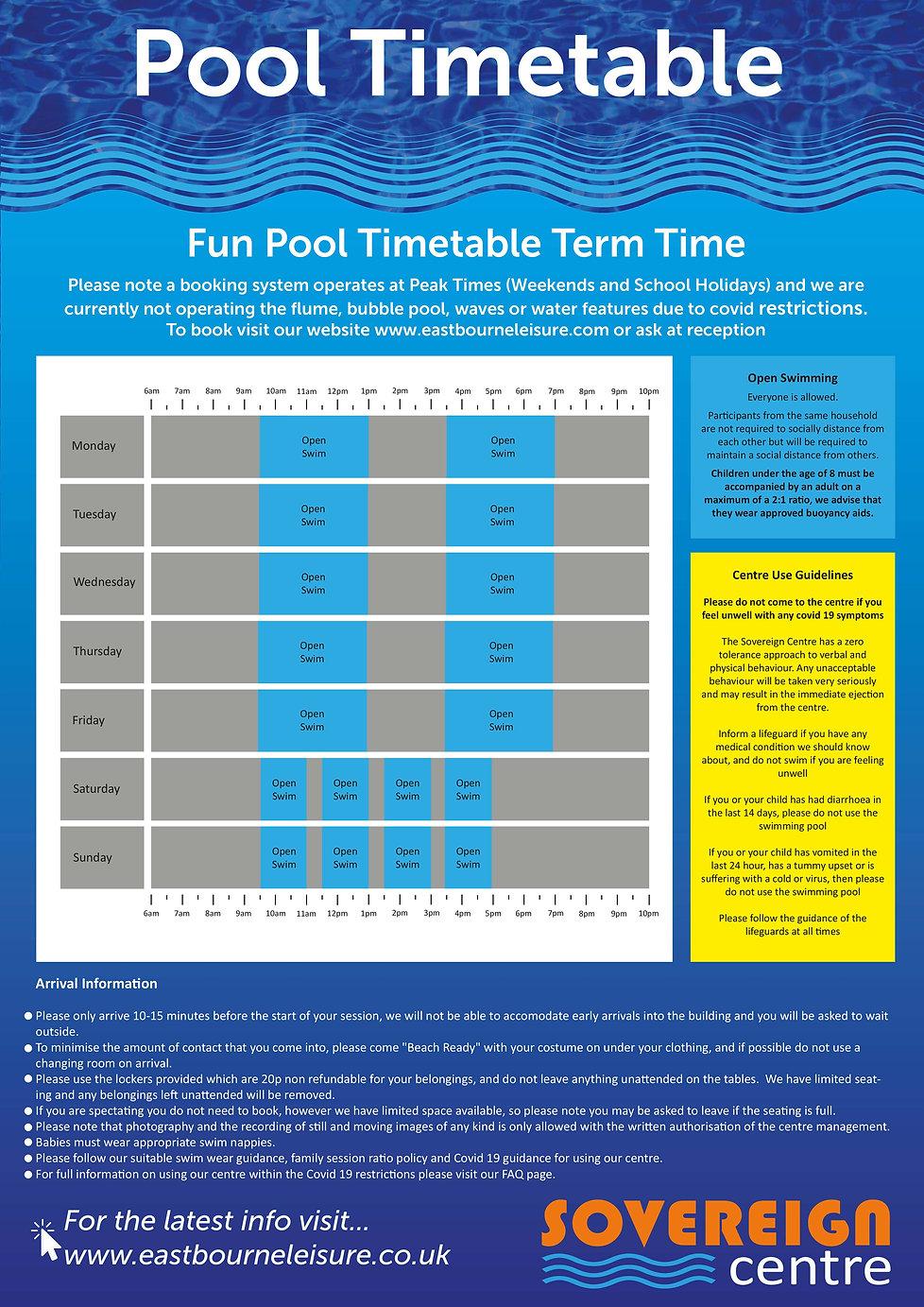 Fun Pool timetable Poster Term Dec 2020.