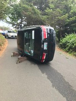 Suspected Intoxicated Driver Rolls His Car