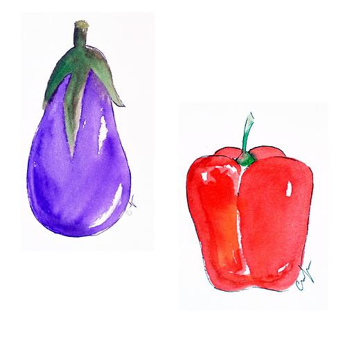 Frutas y Verduras Pack 4