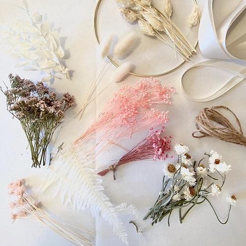 DIY Dried Flower Hoop Kit
