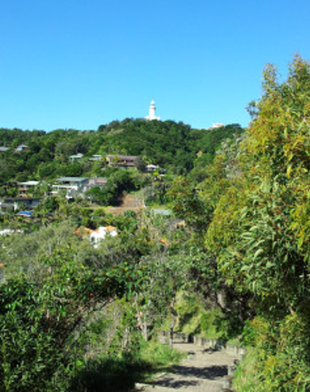 Byron Bay Lightouse from the cliff path