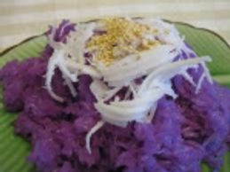 Breakfast Violet Sticky Rice. Photo Credit: To whoever took these beautiful pictures from a wandering email, thank you.