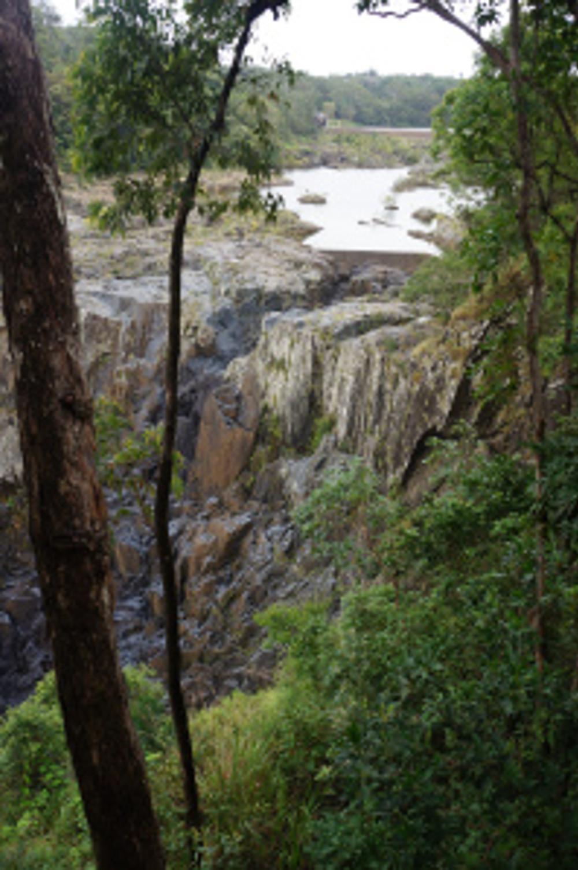 Upper lake of Barron Falls
