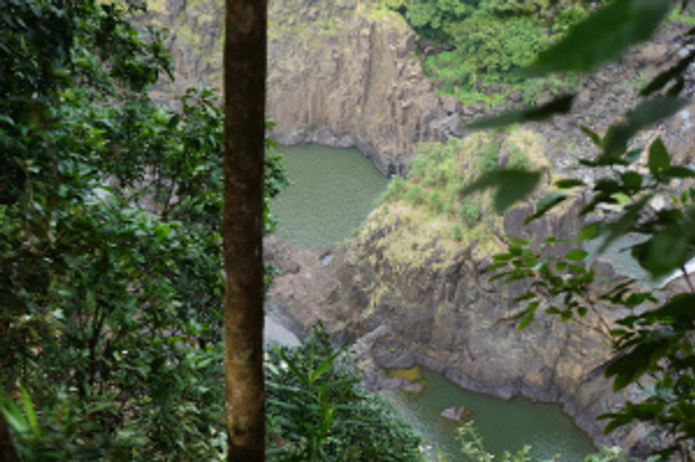 Quiet pools formed by Barron Falls