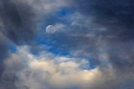 Awaiting Mid-Autumn: Moon in Clouds