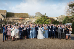 Photograph of whole wedding party