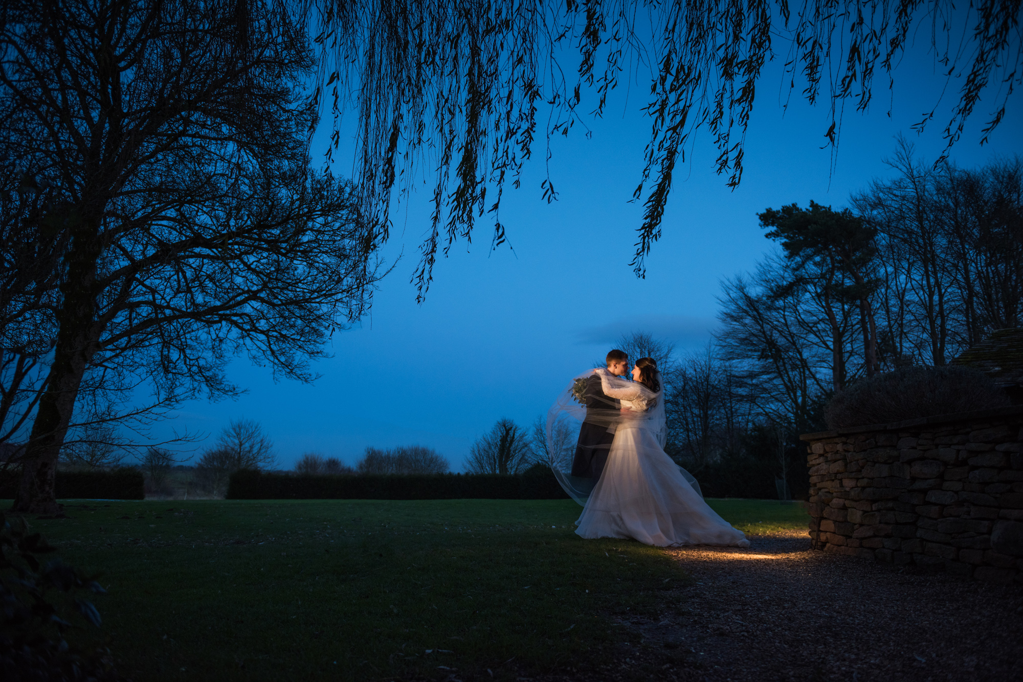 Dramatic winter wedding photographed