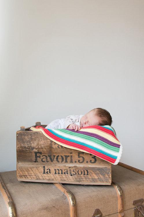 Newborn baby at home
