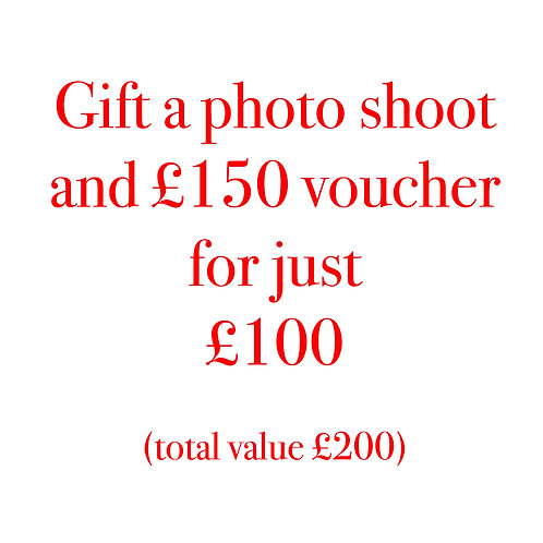 Photo shoot (worth £50 )with £150 Gift Voucher (value £200)