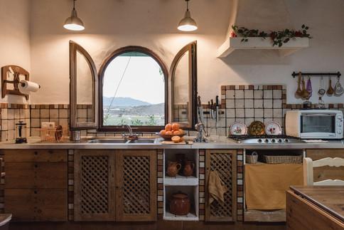 Spanish cave house kitchen