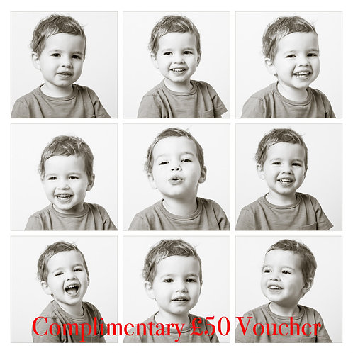 Winter Special - Studio portrait session with Complimentary £50 Voucher
