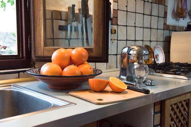 Oranges on Casa Isadora Kitchen