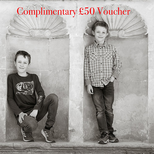 Winter Special - Family portrait session and £50 Voucher