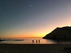 Sunset on the beach, Casa Isadora
