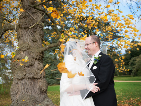 Autumn wedding photography at the Sculpture Gallery Woburn Abbey