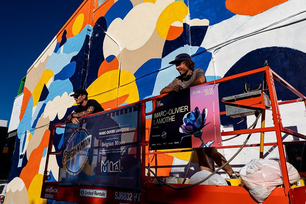 Belgian Moon Festival Mural Marc-Olivier Lamothe