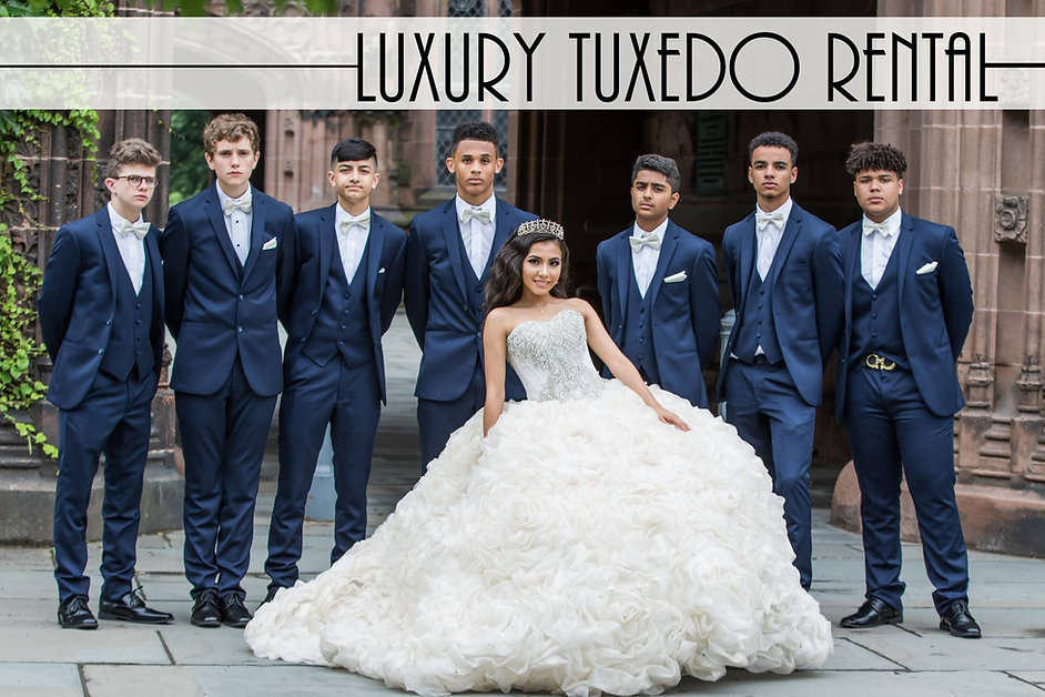 Brilliance Quinceanera - Blue Tuxedos