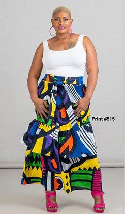 Authentic African Print Halter Print Dress
