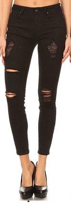 Denim Plus Distressed Jeans Black