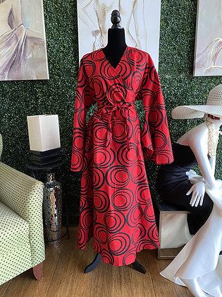 The Black & Red Pattern Print Dress