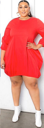 Red Bubble Dress