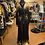 Thumbnail: Black Lace Dress With Gold Explosive Metallic Drippings
