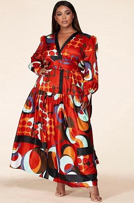 Multi Color Maxi Button Down Dress
