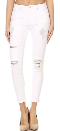 Denim Plus Distressed Jeans White