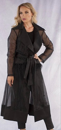 Organza Fringe Jacket Dress
