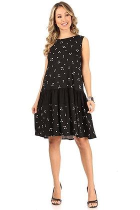 Short Polka Dot Print Dress