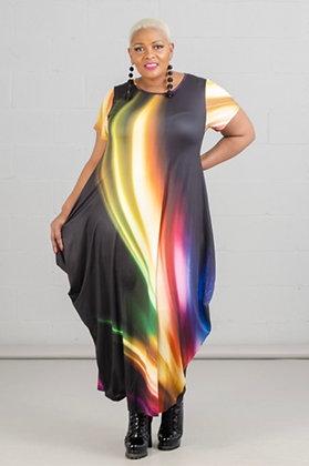 Square Knit Maxi Bubble Dress