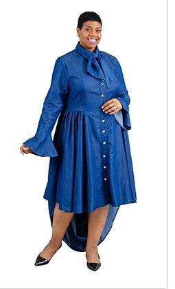 High Low Denim Dress