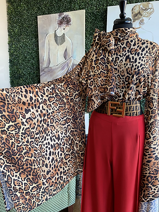Leopard Extra Large Bell Sleeve