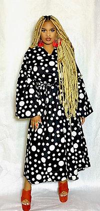 The Black & White Pattern Print Dress