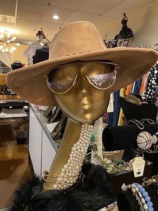 Suede Braided Medium Sized Hat