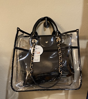 Black 2 Piece See-Through Bag