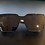 Thumbnail: Classy Vintage Style Sunglasses- White & Green Arm