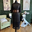 Thumbnail: Sheer Pearl Dress Black & Gold