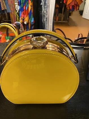 Mustard Round Clutch