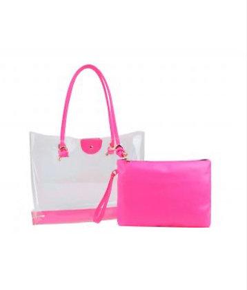 Neon Clear Handbag
