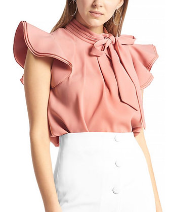 Front Slit Designer White Shirt