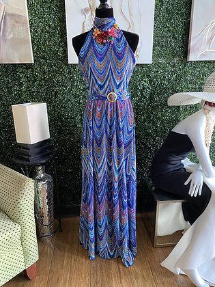 Sassy Blue Waters Sleeveless Maxi Dress