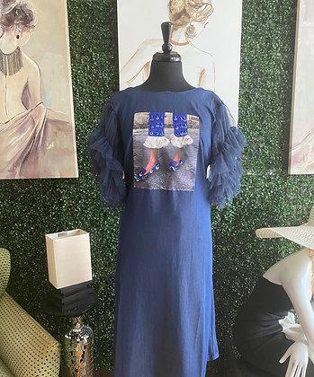 Dazzling Denim Shoe Bling Dress