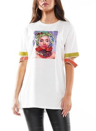 Embellished Multicolor Top