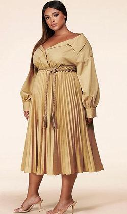Sandy Beige Midi Dress