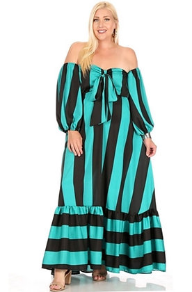 Strapless Off Shoulder Maxi Dress