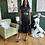 Thumbnail: Pleated Faux Leather Dress with Lace Hem