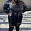 Thumbnail: Curvy Skinny Flare Jeans Distressed